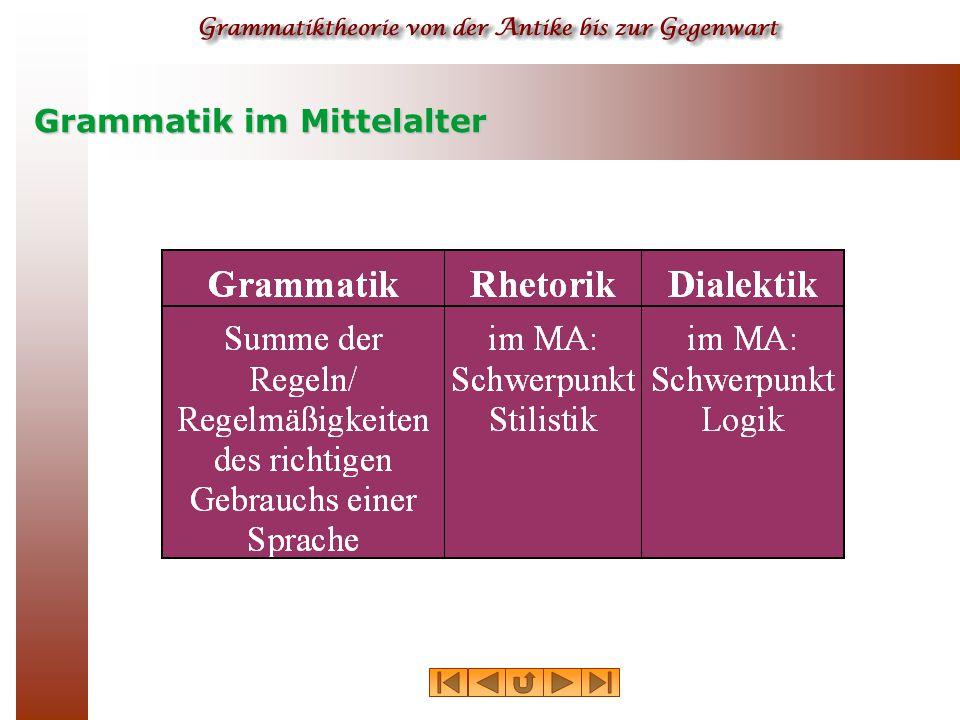 Grammatik im Mittelalter