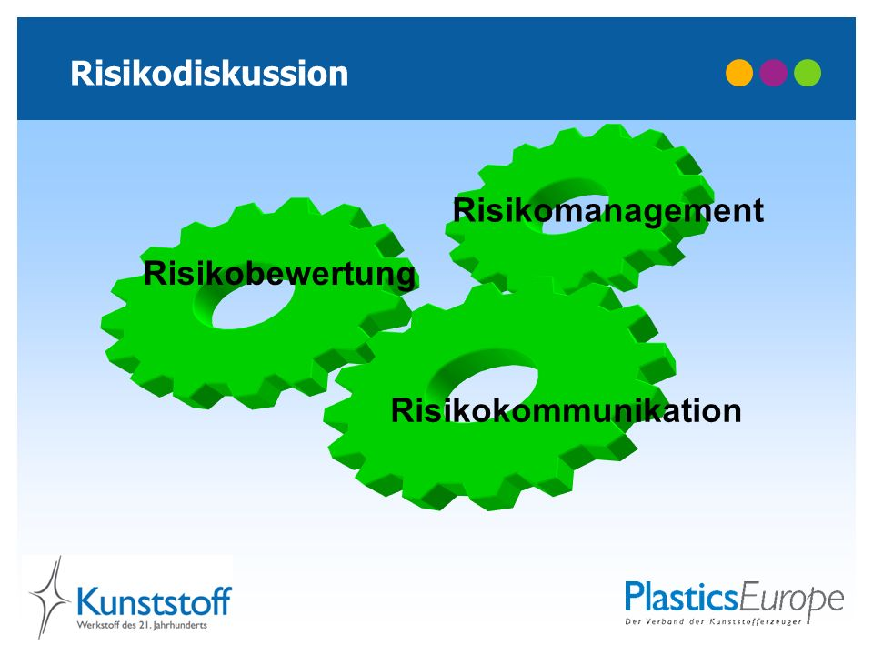 Risikodiskussion Risikomanagement Risikobewertung Risikokommunikation
