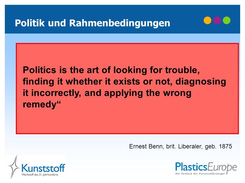 Politik und Rahmenbedingungen