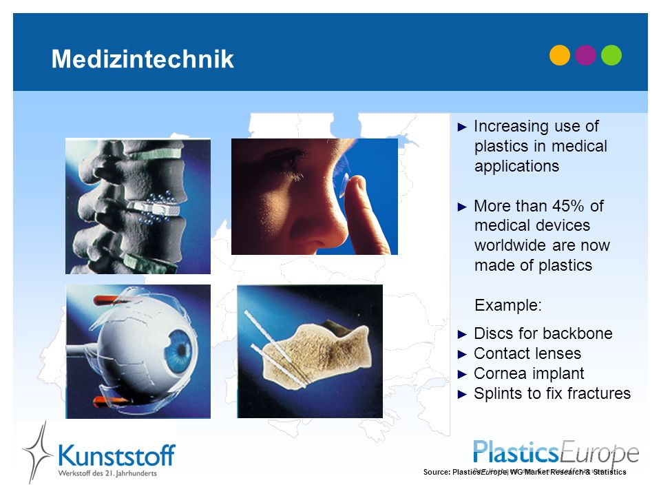 Medizintechnik Increasing use of plastics in medical applications