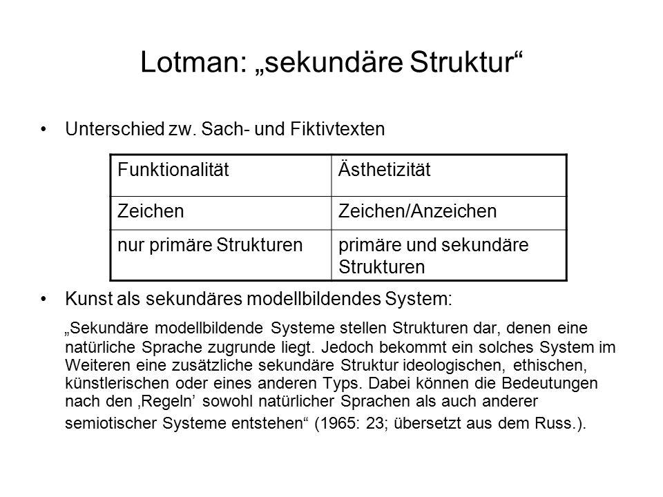 """Lotman: """"sekundäre Struktur"""