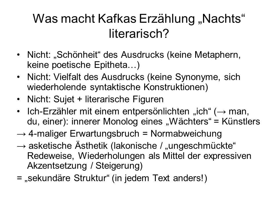"""Was macht Kafkas Erzählung """"Nachts literarisch"""