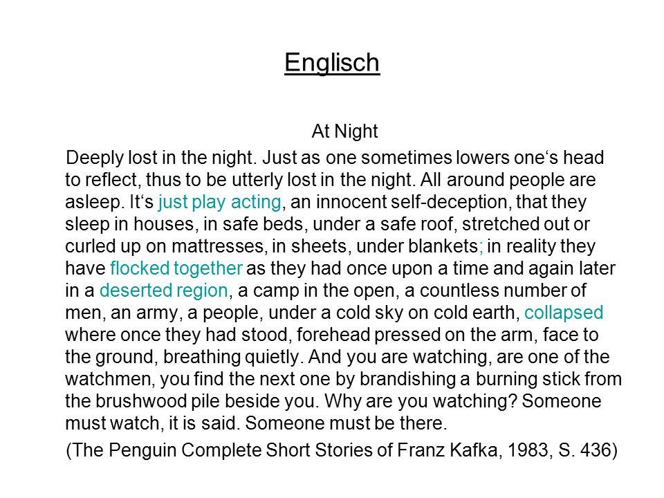 Englisch At Night.