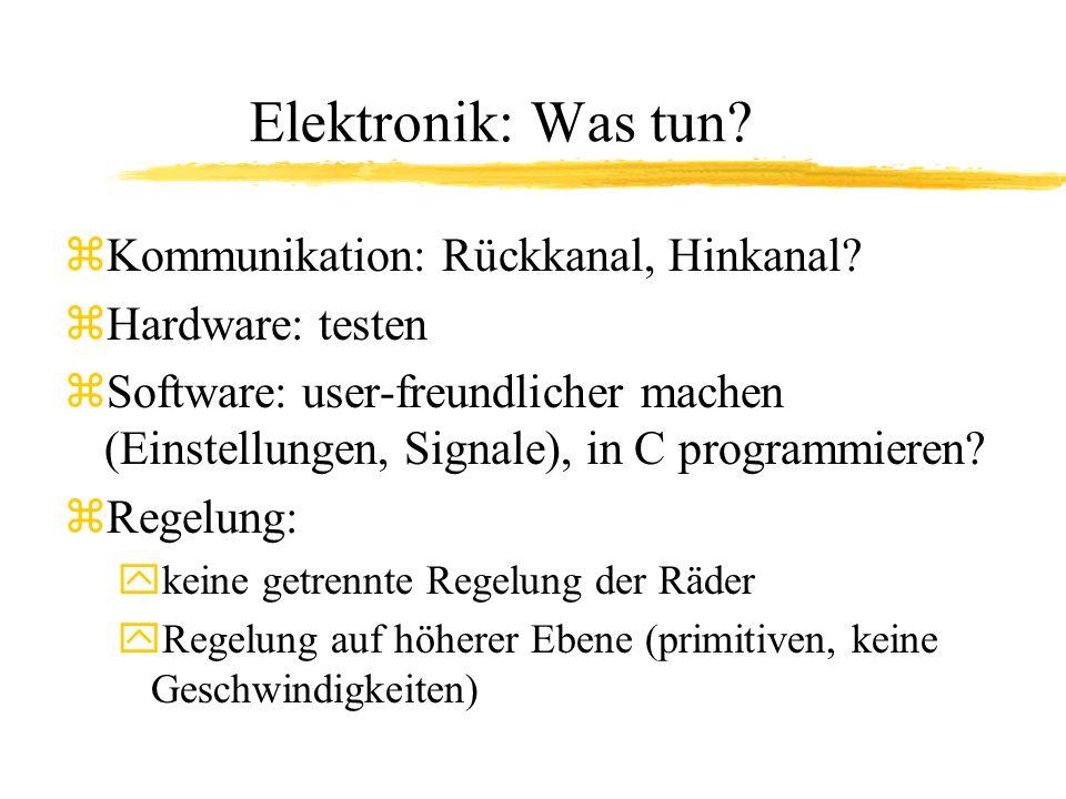 Elektronik: Was tun Kommunikation: Rückkanal, Hinkanal