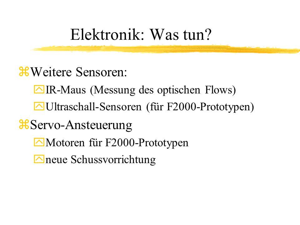 Elektronik: Was tun Weitere Sensoren: Servo-Ansteuerung
