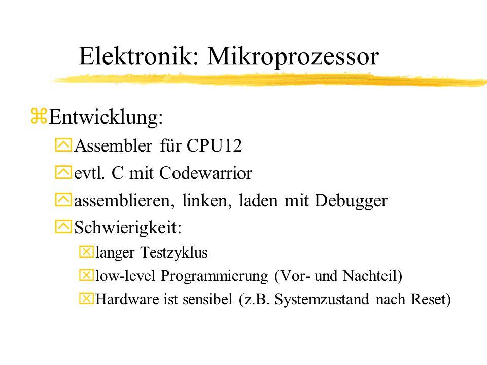 Elektronik: Mikroprozessor