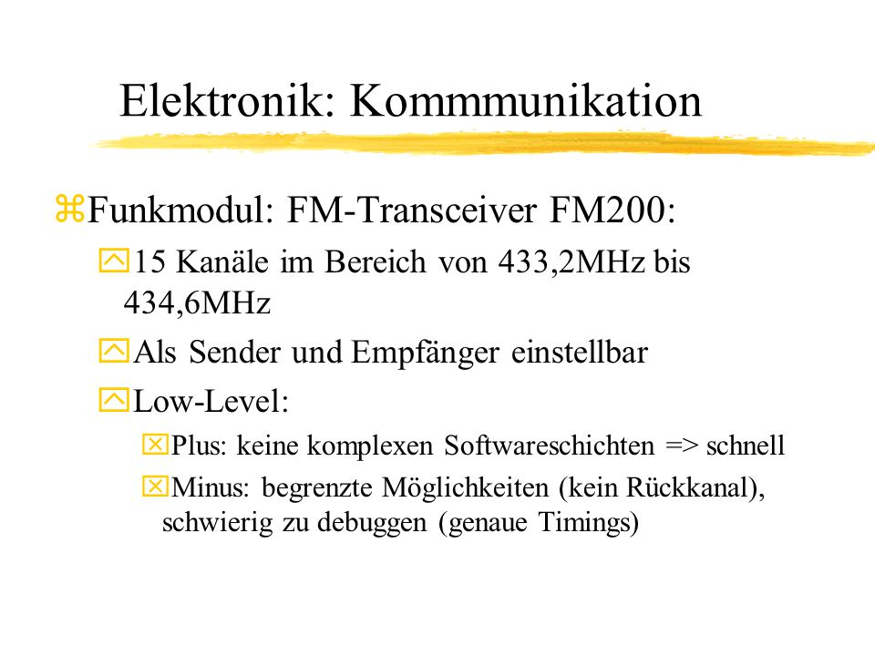 Elektronik: Kommmunikation