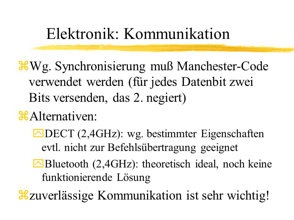 Elektronik: Kommunikation