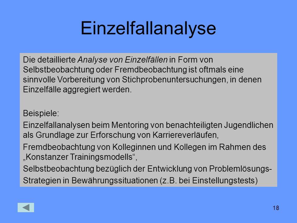 Einzelfallanalyse