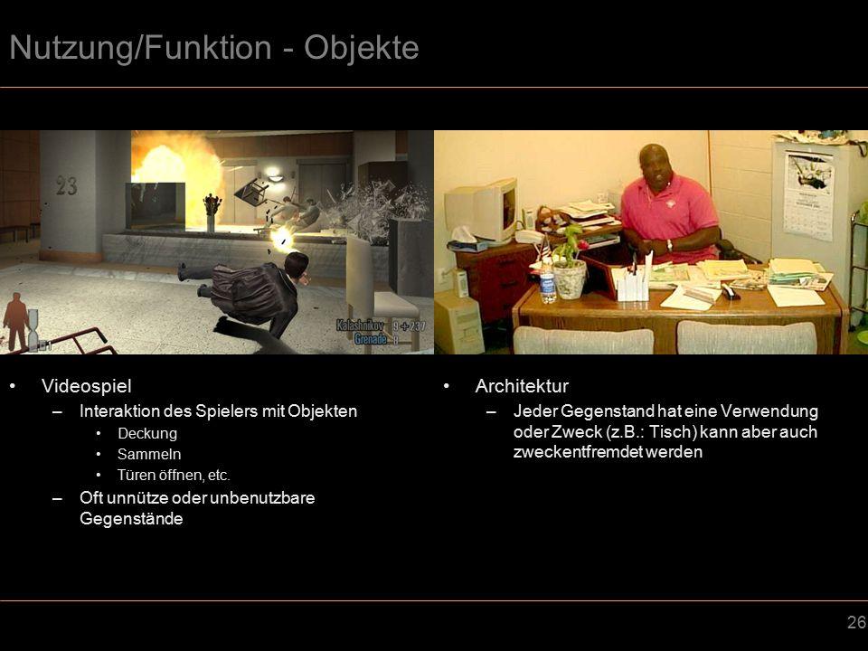 Nutzung/Funktion - Objekte