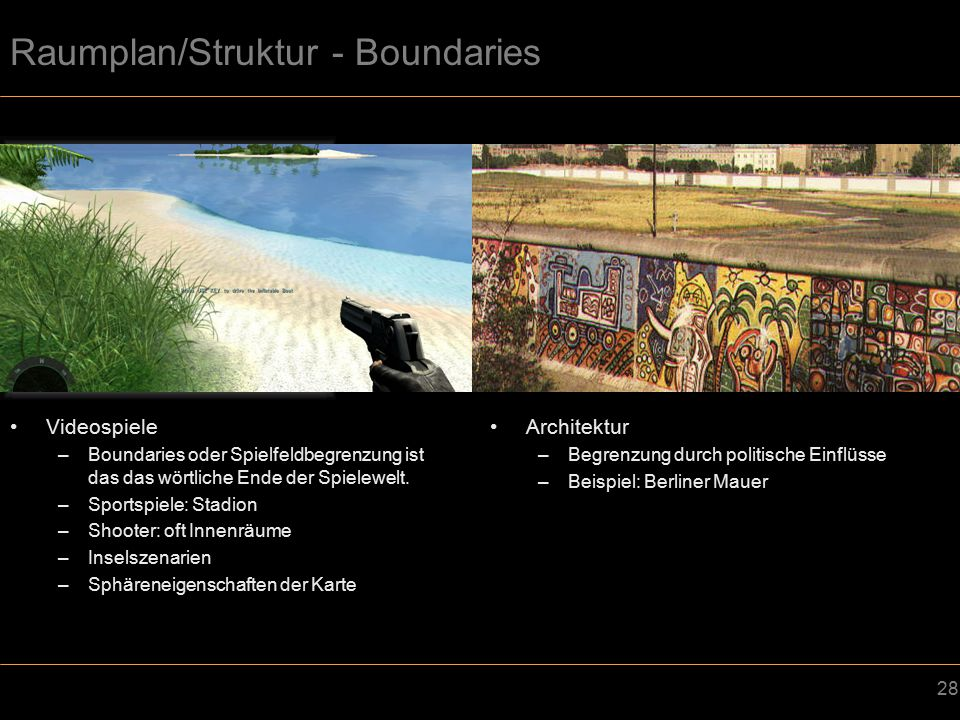 Raumplan/Struktur - Boundaries