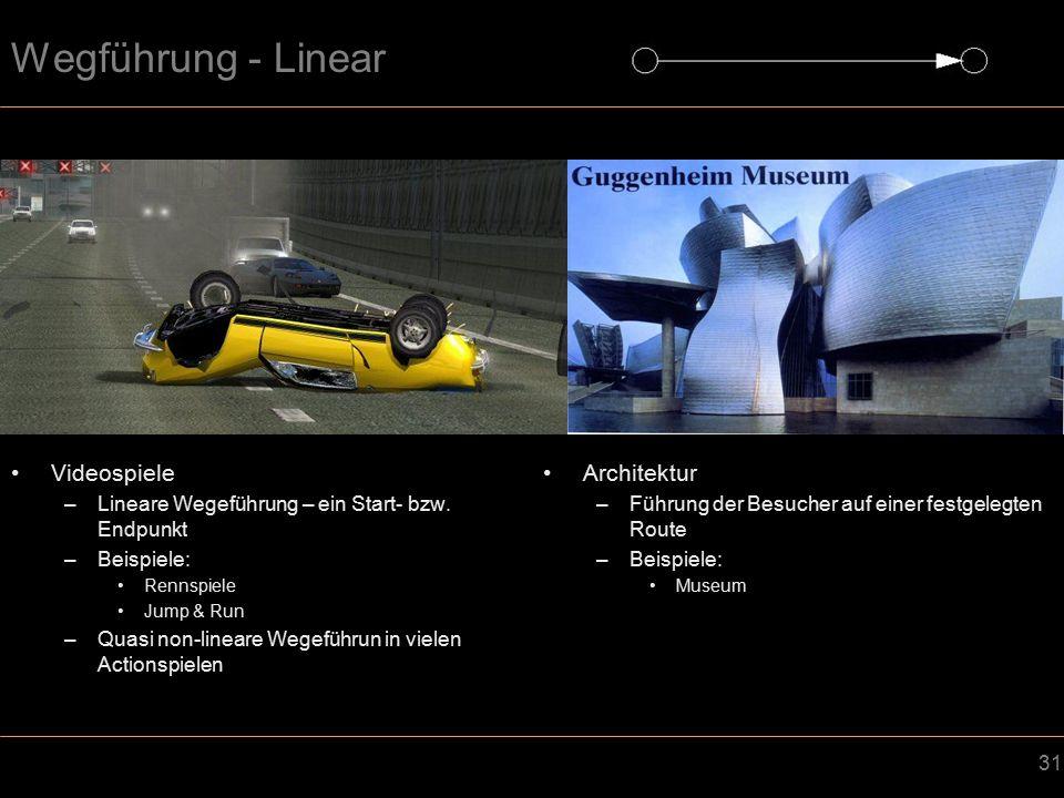 Wegführung - Linear Videospiele Architektur