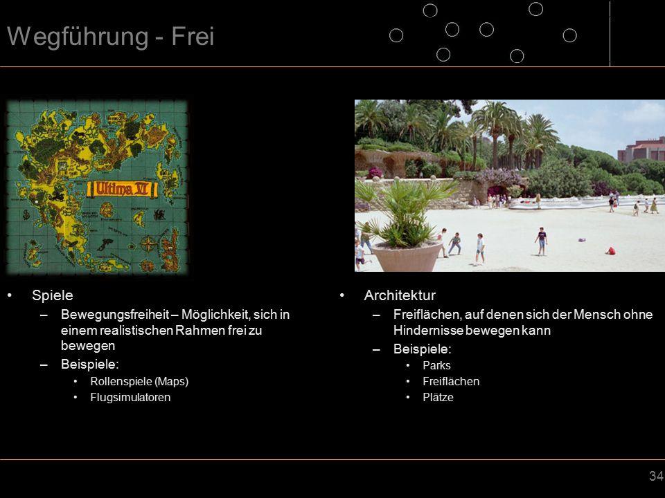 Wegführung - Frei Spiele Architektur