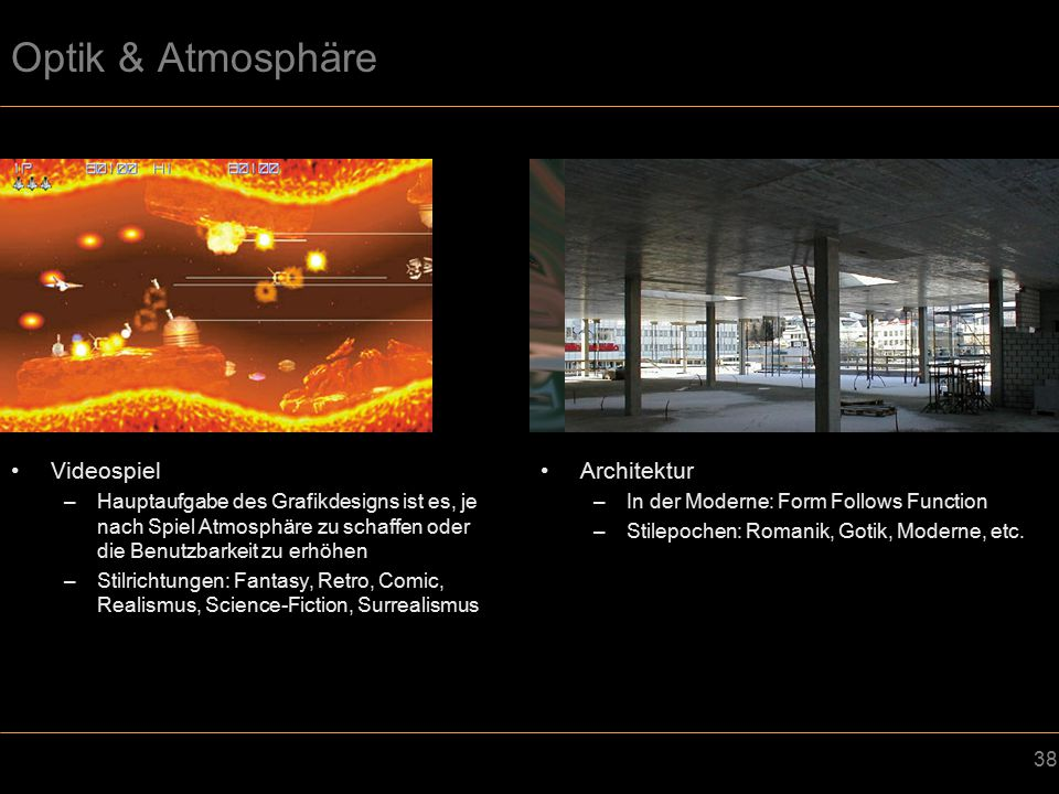 Optik & Atmosphäre Videospiel Architektur