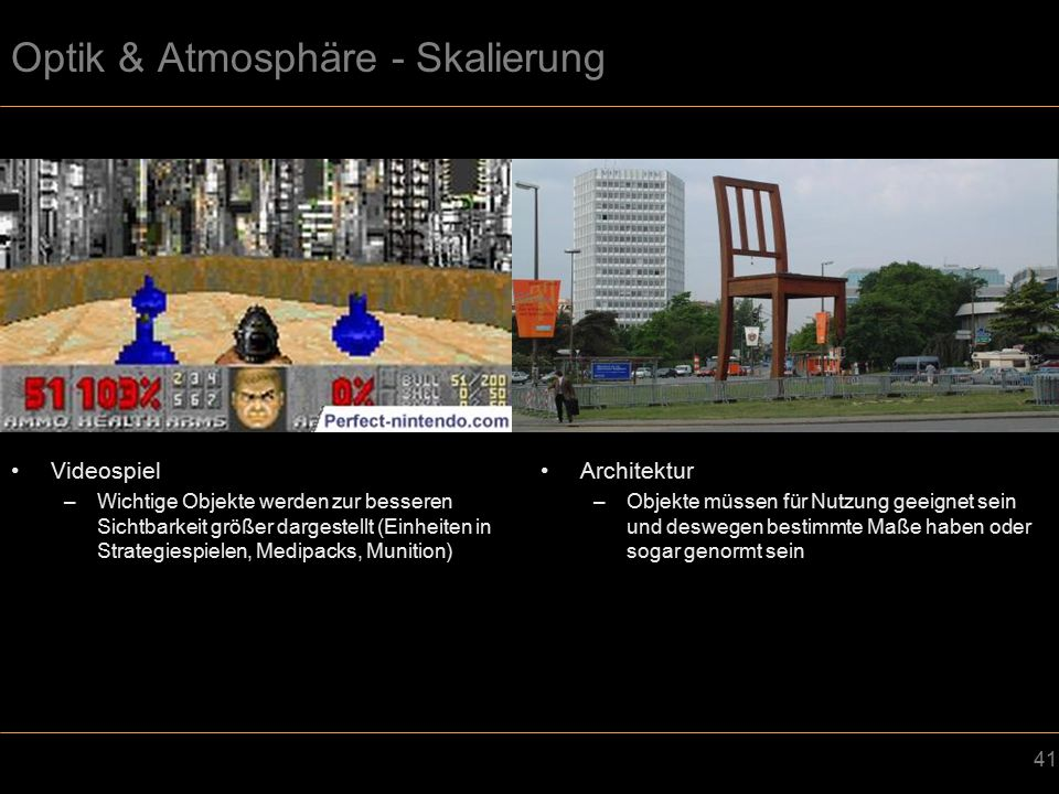 Optik & Atmosphäre - Skalierung
