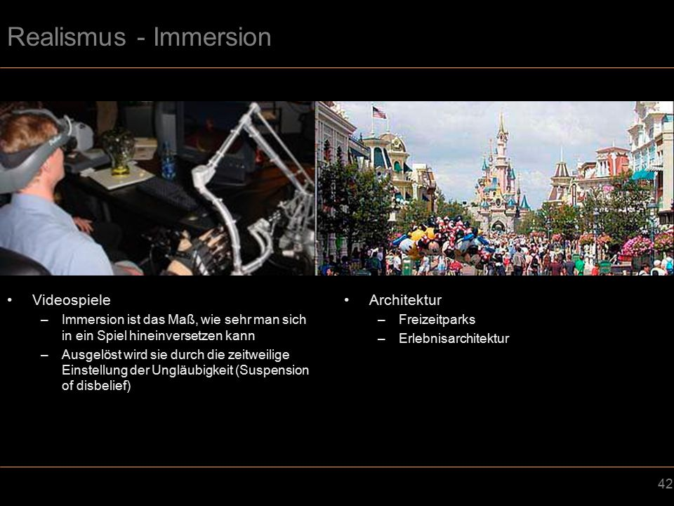 Realismus - Immersion Videospiele Architektur