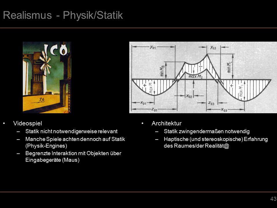Realismus - Physik/Statik