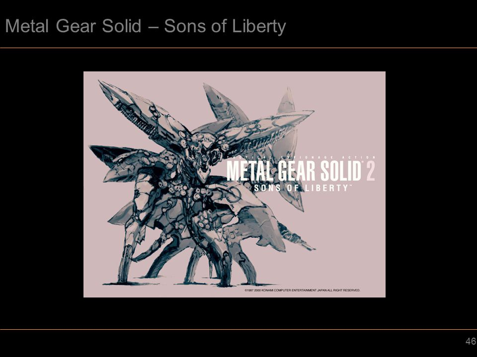 Metal Gear Solid – Sons of Liberty