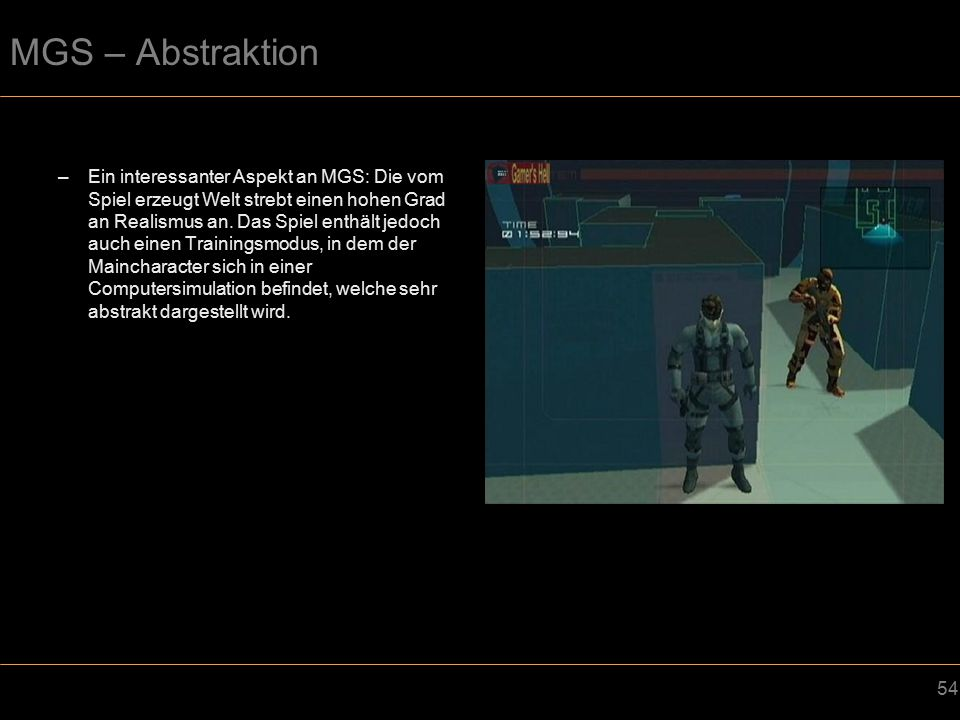 MGS – Abstraktion