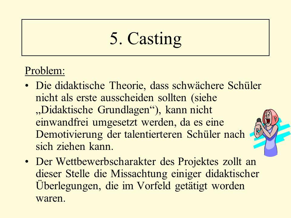 5. Casting Problem: