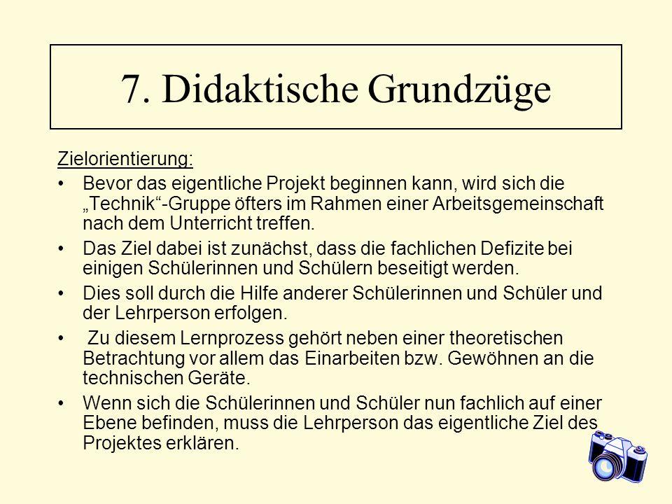 7. Didaktische Grundzüge