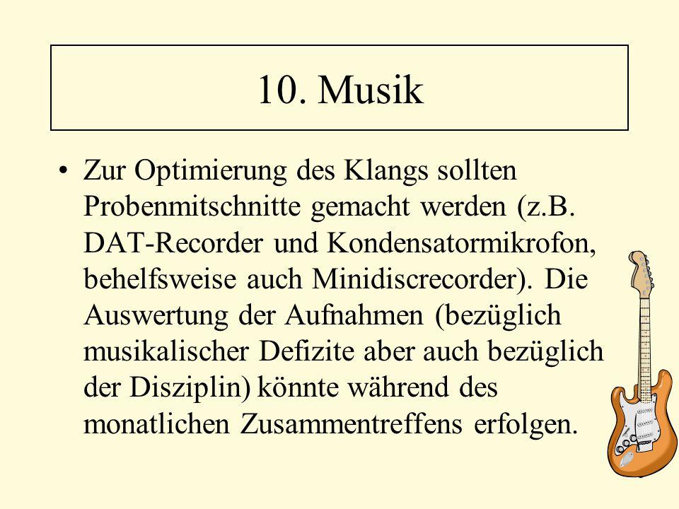 10. Musik