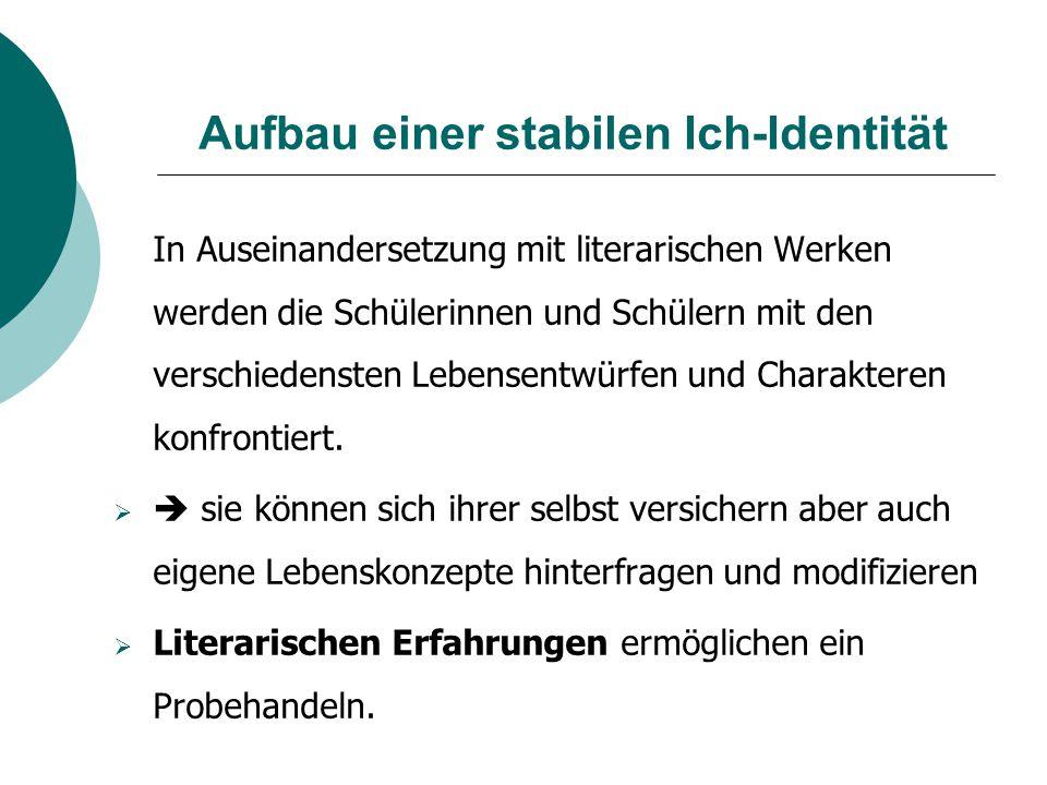 Aufbau einer stabilen Ich-Identität
