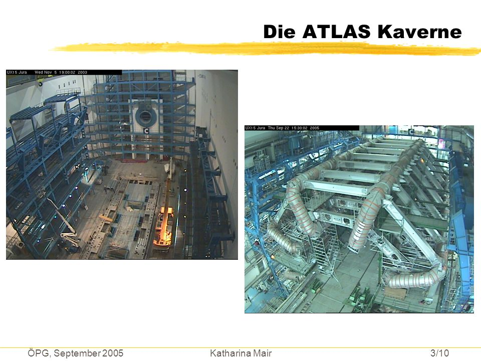 Die ATLAS Kaverne ÖPG, September 2005 Katharina Mair
