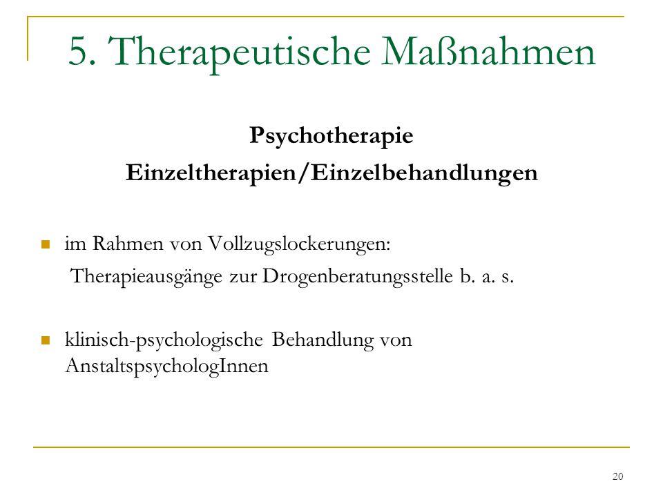 5. Therapeutische Maßnahmen