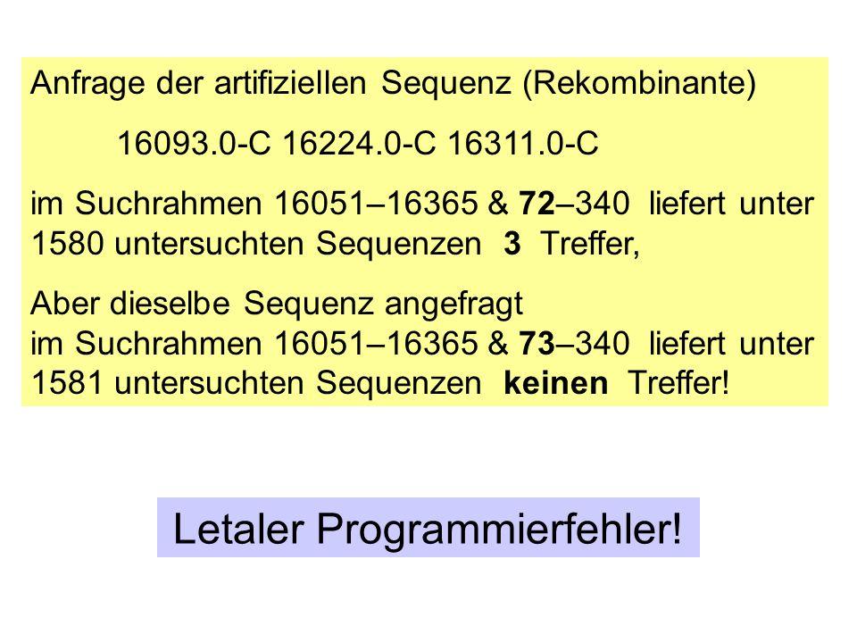 Anfrage der artifiziellen Sequenz (Rekombinante)