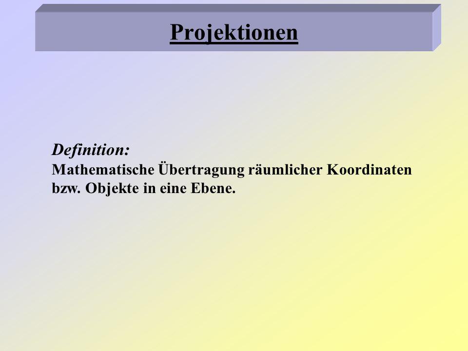 Projektionen Definition: