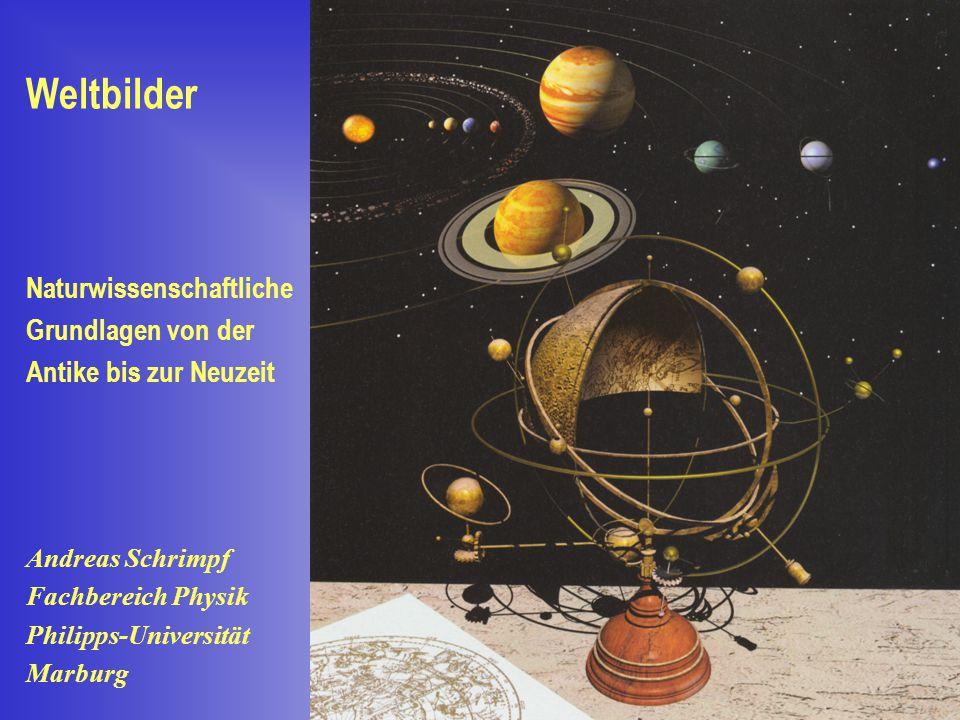 Naturwissenschaftliche Grundlagen von der Antike bis zur Neuzeit