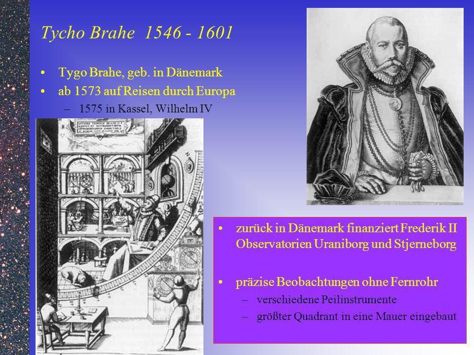 Tycho Brahe 1546 - 1601 Tygo Brahe, geb. in Dänemark
