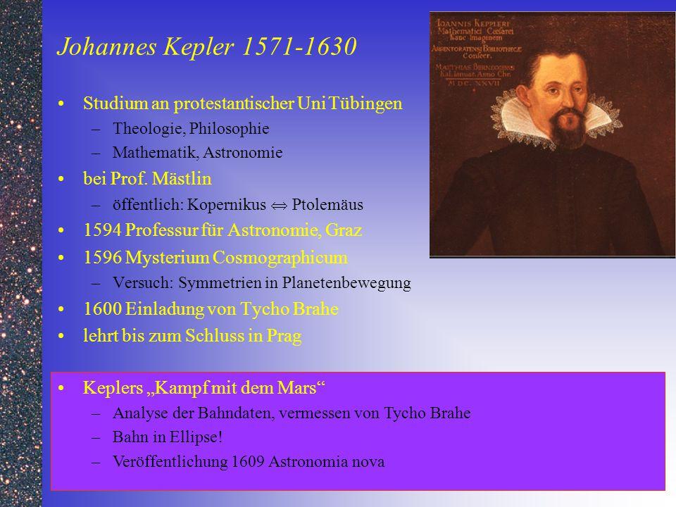 Johannes Kepler 1571-1630 Studium an protestantischer Uni Tübingen