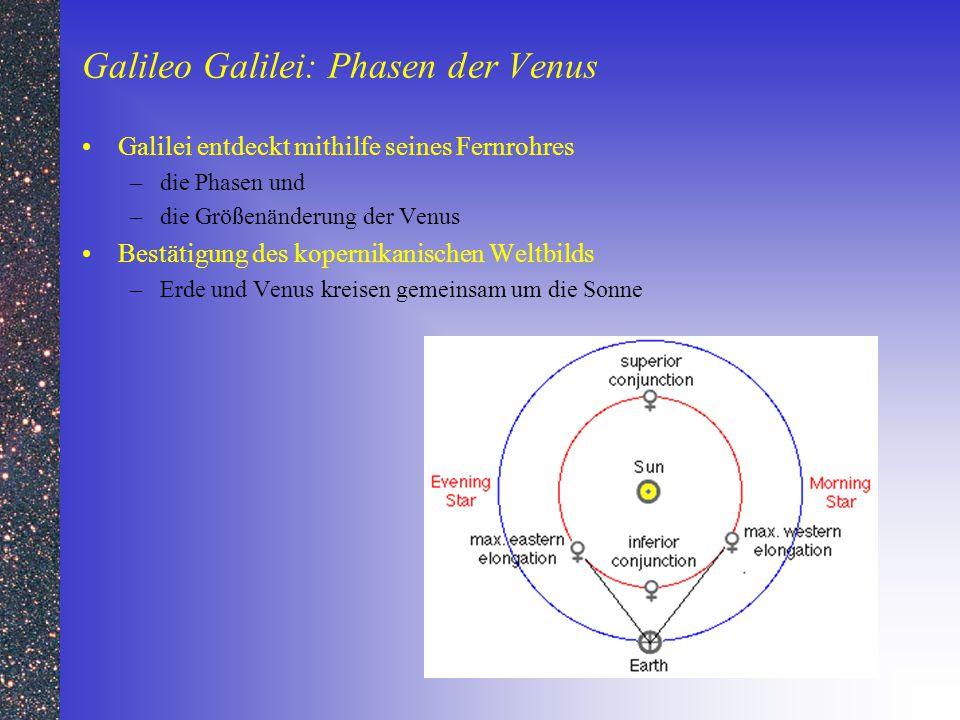 Galileo Galilei: Phasen der Venus