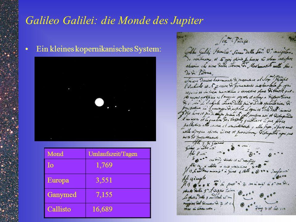 Galileo Galilei: die Monde des Jupiter