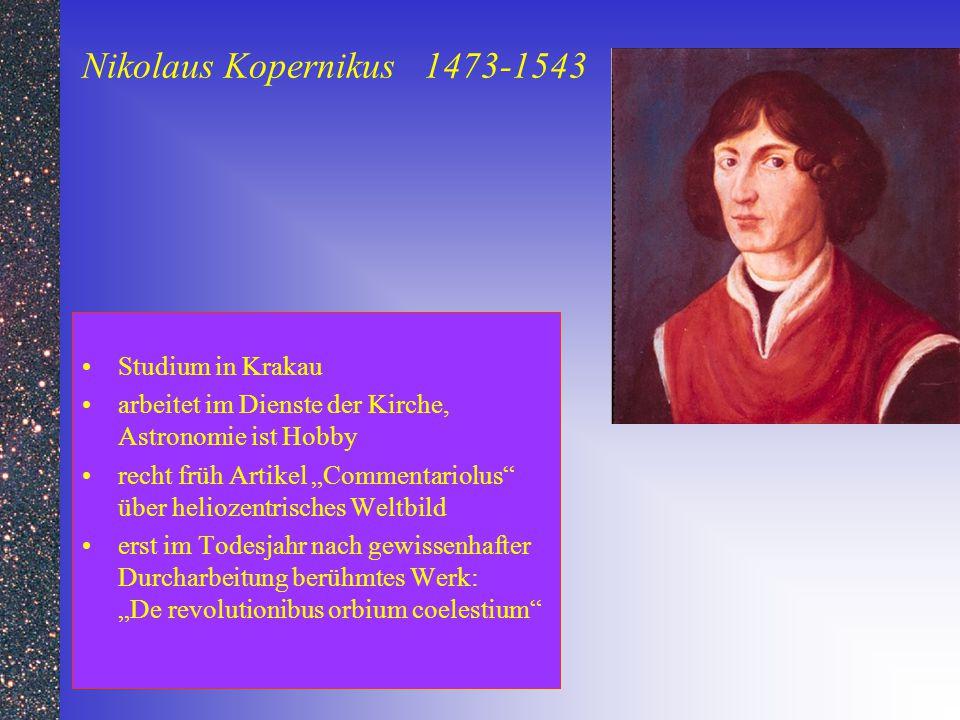Nikolaus Kopernikus 1473-1543 Studium in Krakau