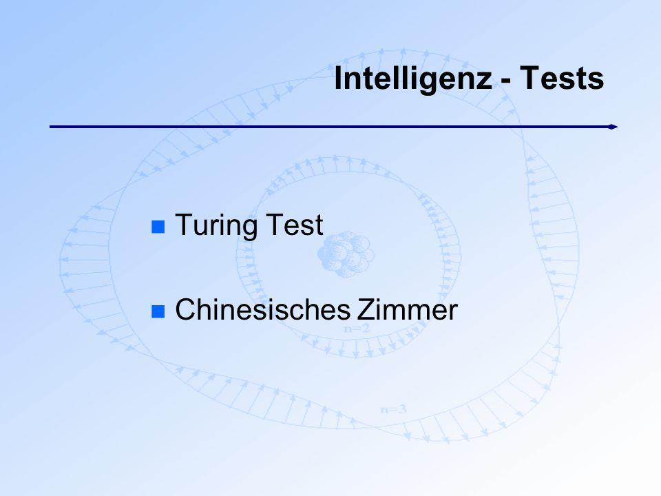 Intelligenz - Tests Turing Test Chinesisches Zimmer