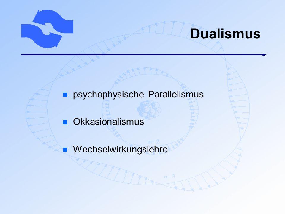Dualismus psychophysische Parallelismus Okkasionalismus
