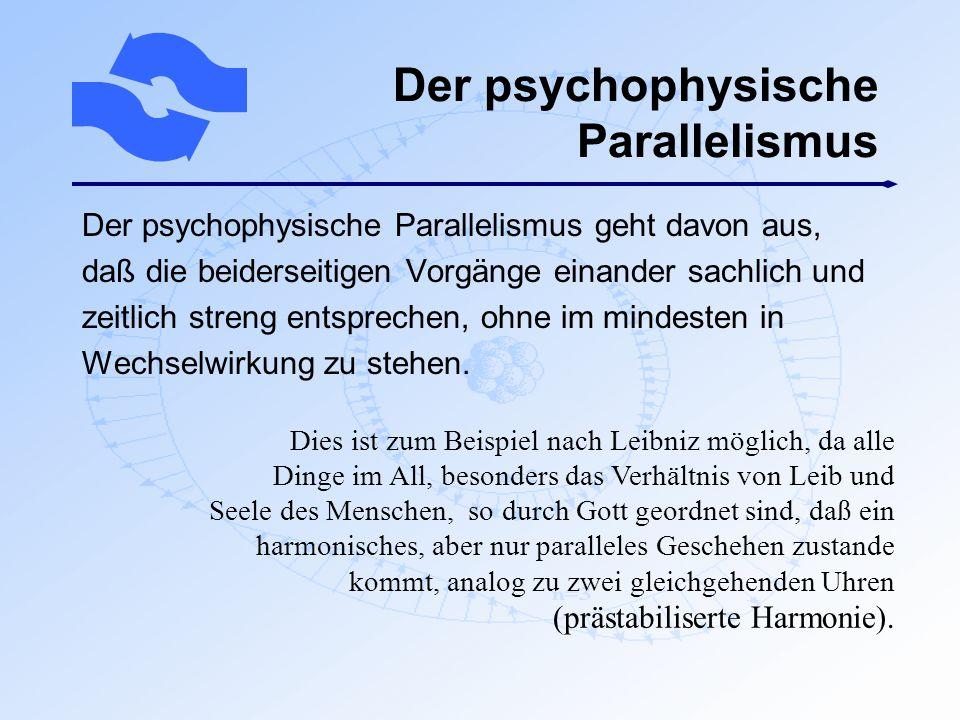 Der psychophysische Parallelismus