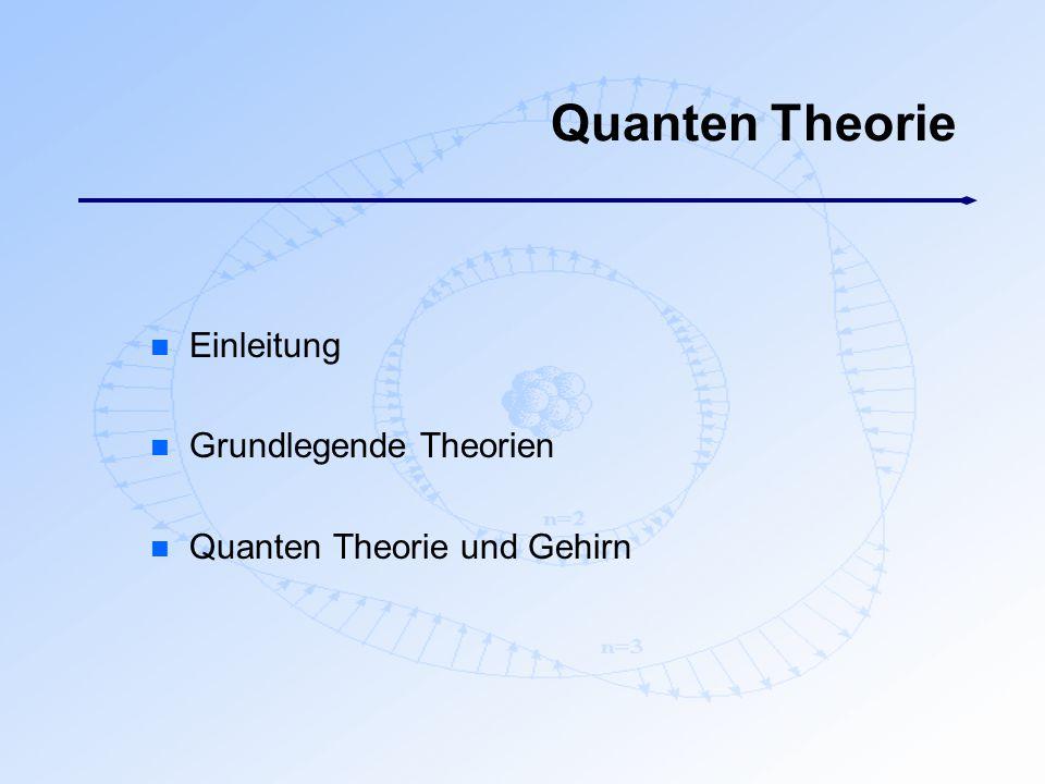 Quanten Theorie Einleitung Grundlegende Theorien