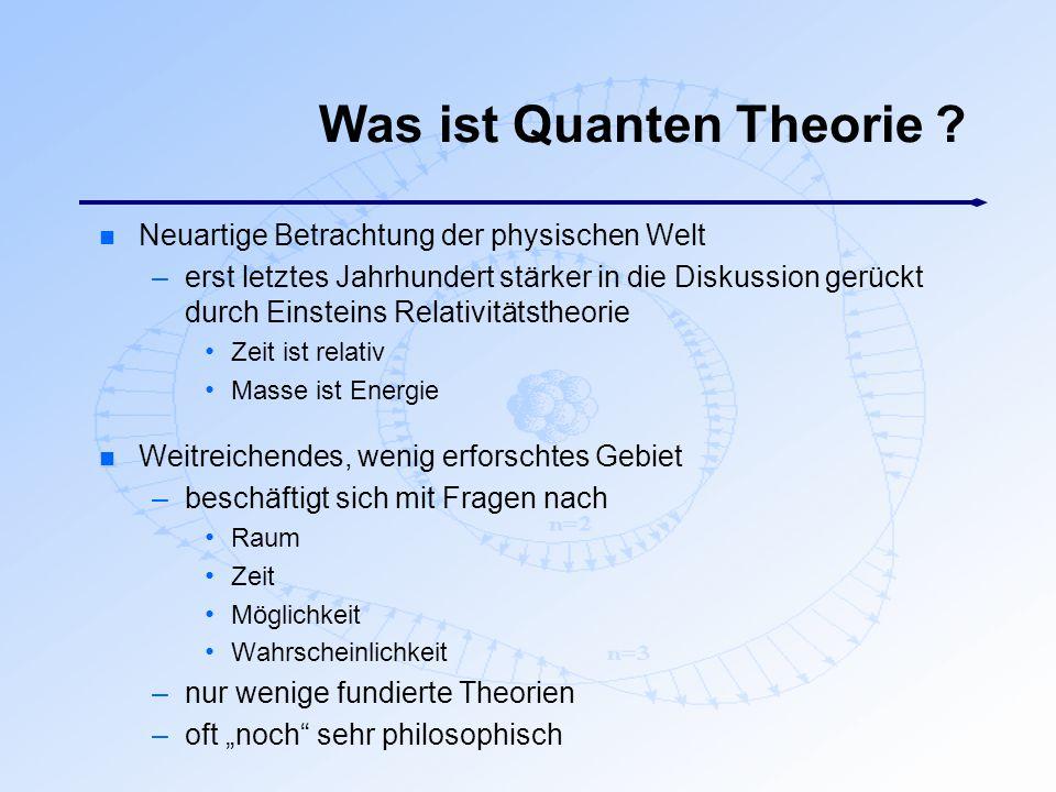 Was ist Quanten Theorie