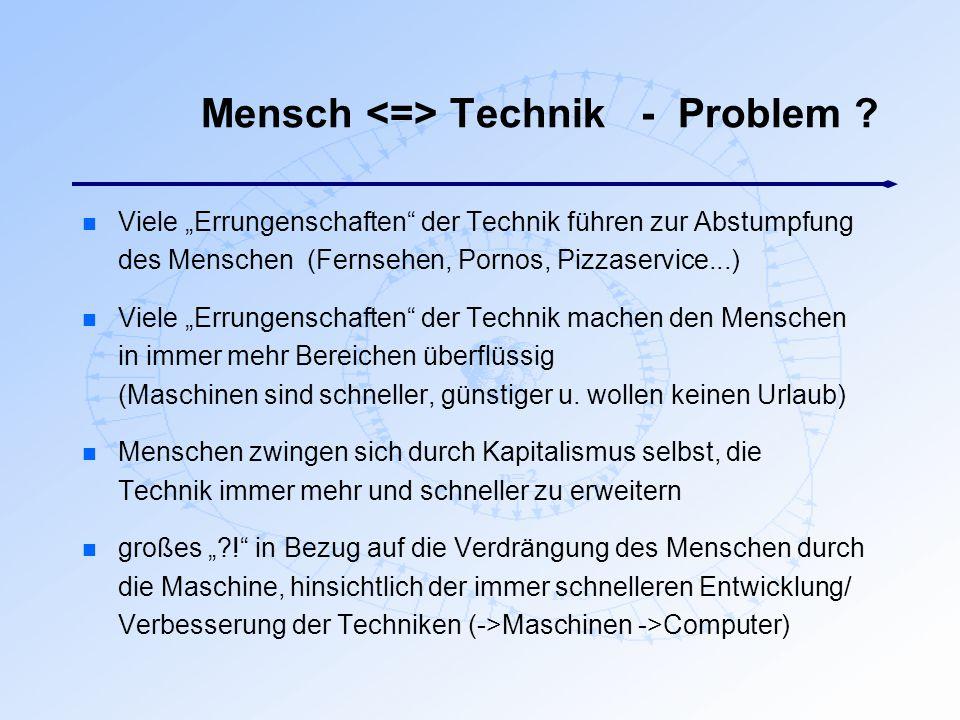 Mensch <=> Technik - Problem