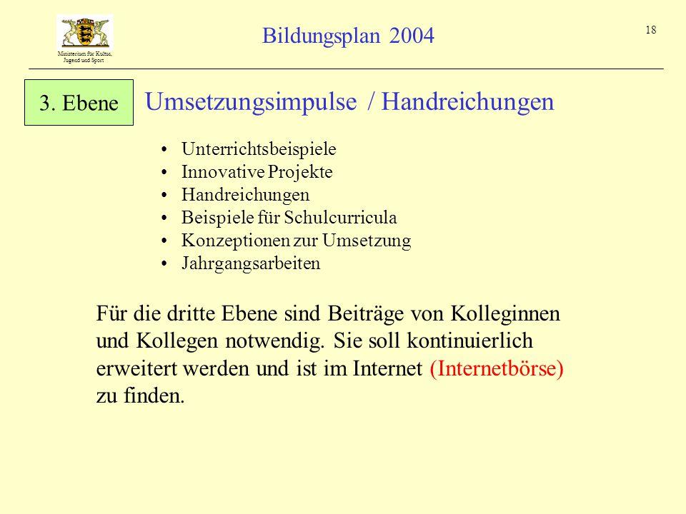 Umsetzungsimpulse / Handreichungen