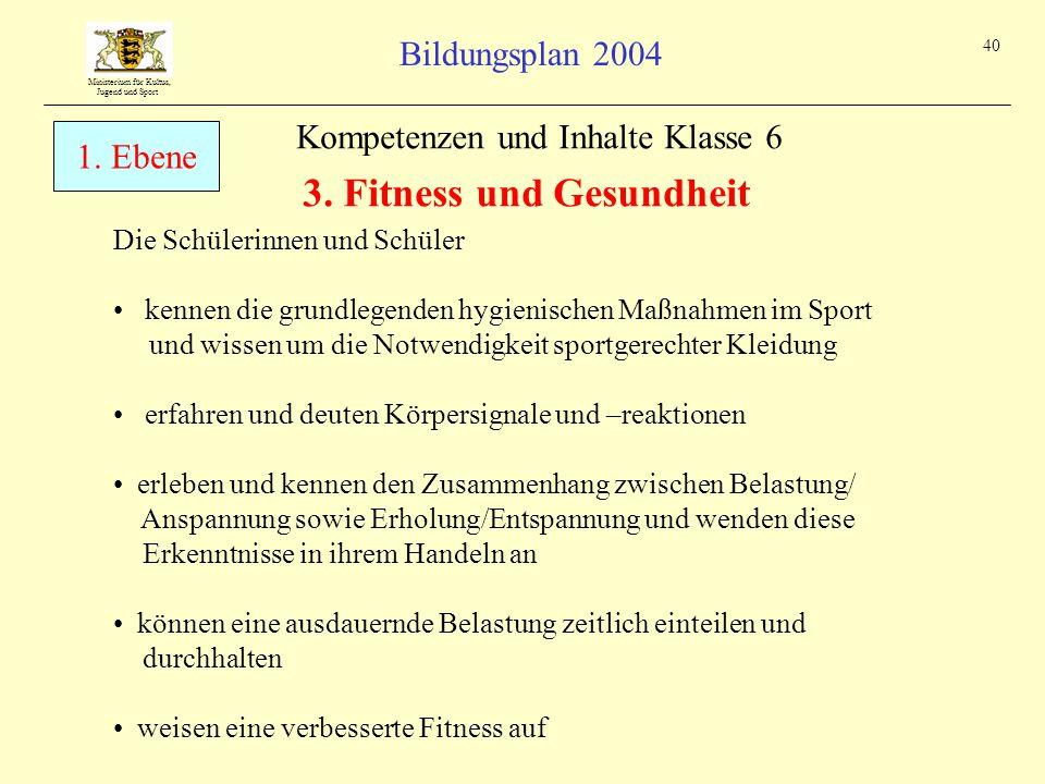 3. Fitness und Gesundheit