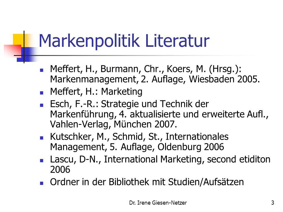 Markenpolitik Literatur
