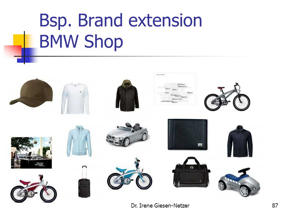 Bsp. Brand extension BMW Shop