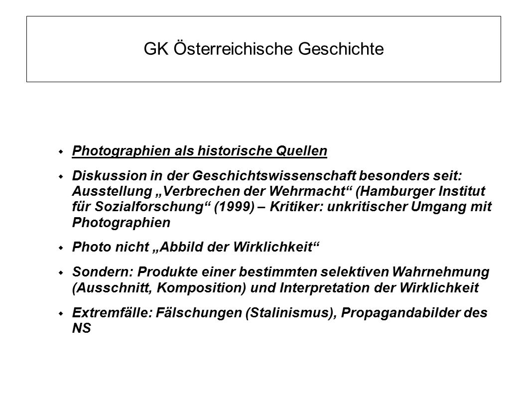 GK Österreichische Geschichte