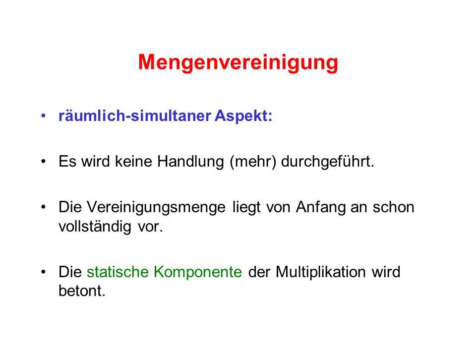 Mengenvereinigung räumlich-simultaner Aspekt: