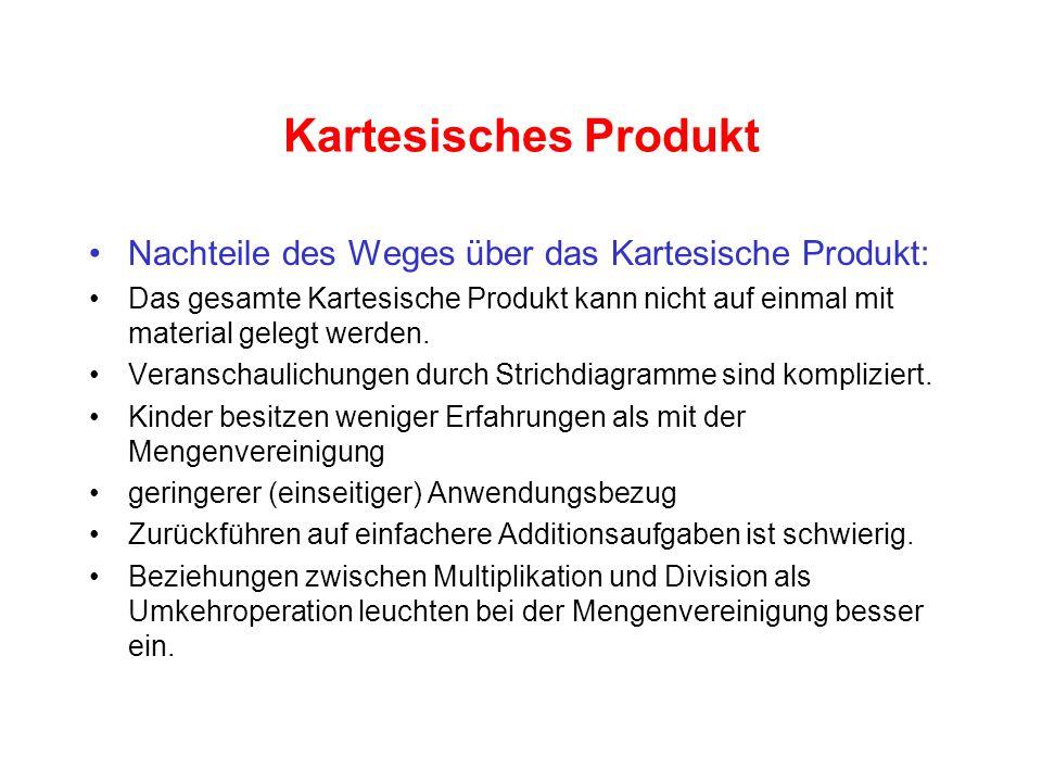 Kartesisches Produkt Nachteile des Weges über das Kartesische Produkt: